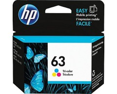 HP 63 Tri-color Original Ink Cartridge F6U61AN